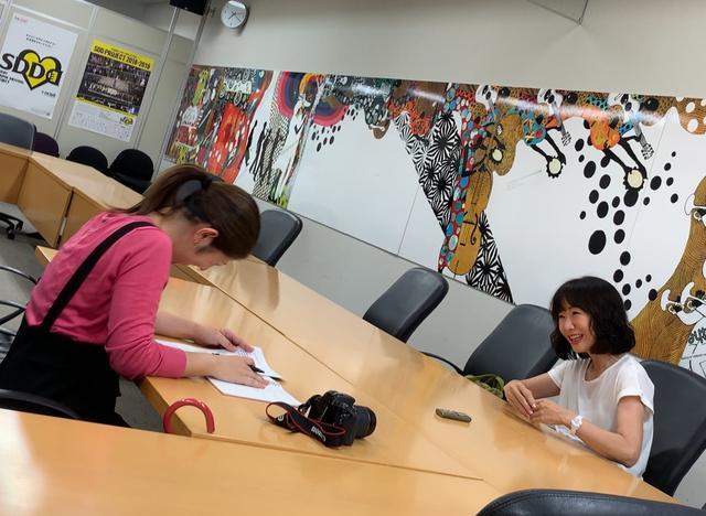 画像: ★和やか~な雰囲気で行われたインタビューでした!萩原さん、ありがとうございました!