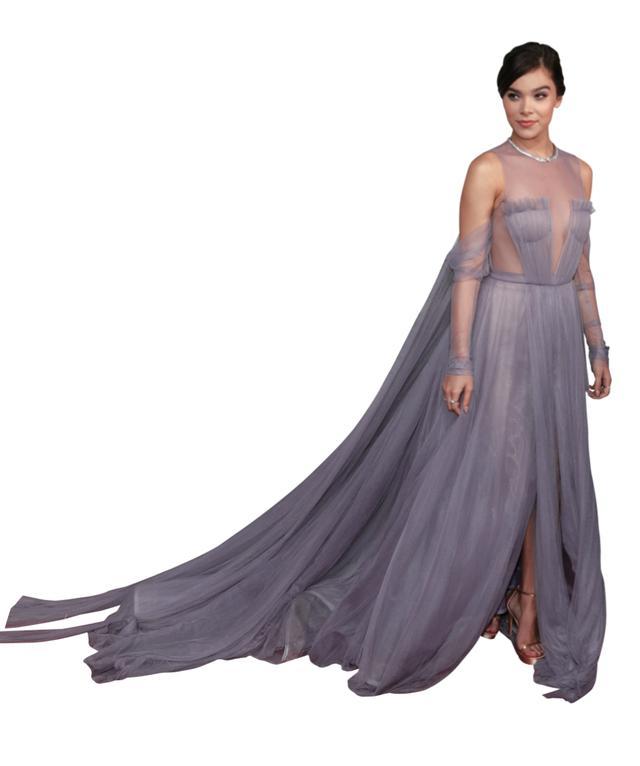 画像: 透け感のあるヴェラ・ウォンのドレスを纏ったヘーリー・スタインフェルド