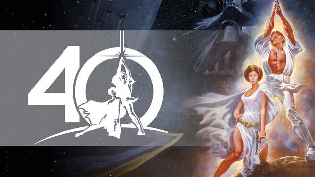 画像: 「スター・ウォーズ」40周年のロゴマーク (c)Lucasfilm Ltd & TM All Rights Reserved.