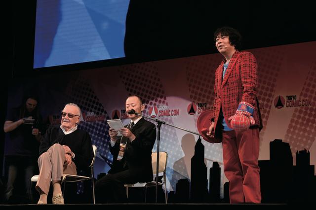 画像: 杉山氏のトークショーにスタン・リーが