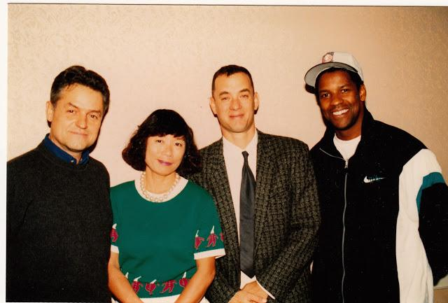 画像: 1993「フィラデルフィア」左からジョナサン・デミ監督、トム、デンゼル・ワシントン。