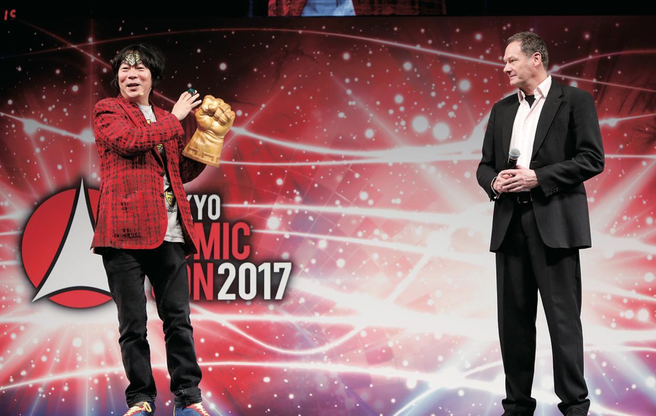 画像: 杉山すぴ豊さんトークショーにマークが登場