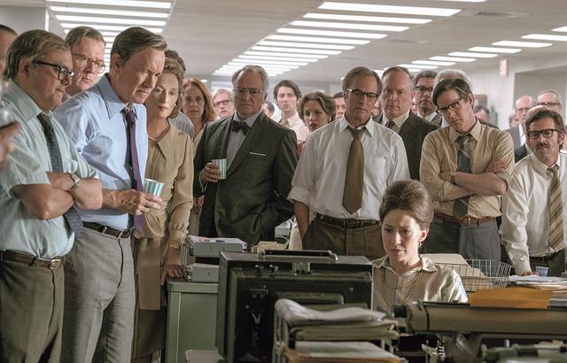 画像: 報道の自由のため、国防総省の最高機密文書の存在をスクープした実在の新聞記者の活躍を描くスピルバーグ監督の感動作。