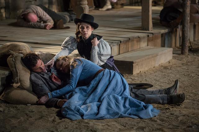 画像: 虚構の西部時代では生と死が描かれる