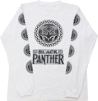 【MARVEL】ブラックパンサー半ロングスリーブTシャツ