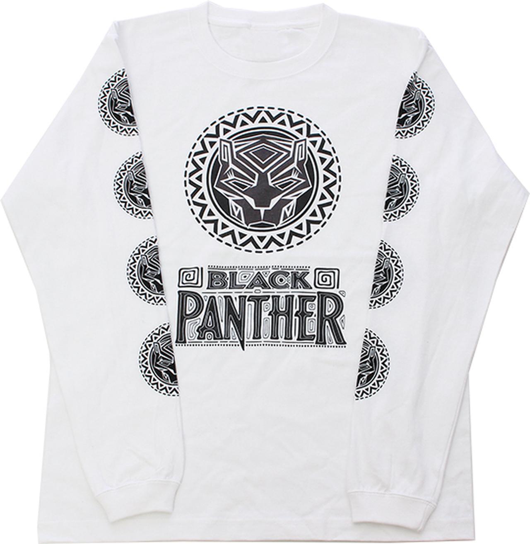 Images : 【MARVEL】ブラックパンサー半ロングスリーブTシャツ