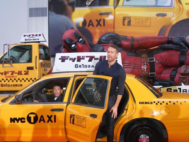 画像: 映画に出てくるのと同じ仕立てのタクシーだよ