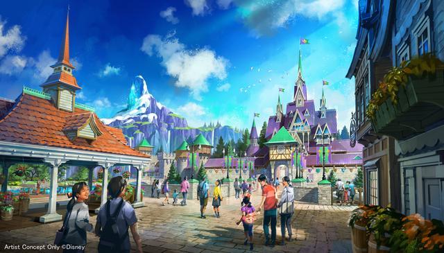 画像: 『アナと雪の女王』をテーマとしたエリア