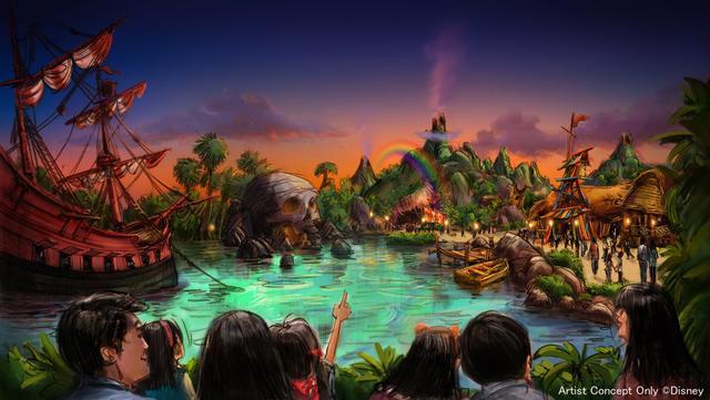 画像: 『ピーター・パン』をテーマとしたエリア