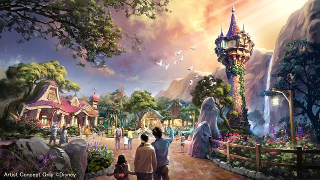 画像: 『塔の上のラプンツェル』をテーマとしたエリア