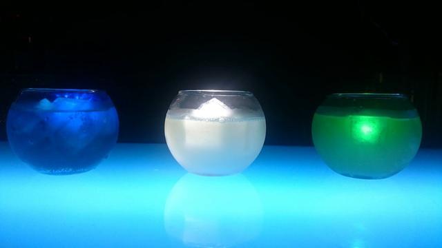 画像: 【コラボカクテル】「小惑星サムソン」BLUE/WHITE/GREEN 各880円(税抜)