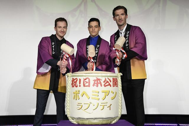 画像1: 「ボヘミアン・ラプソディ」キャスト来日! 紫カーペットで華麗なるジャパンプレミア開催