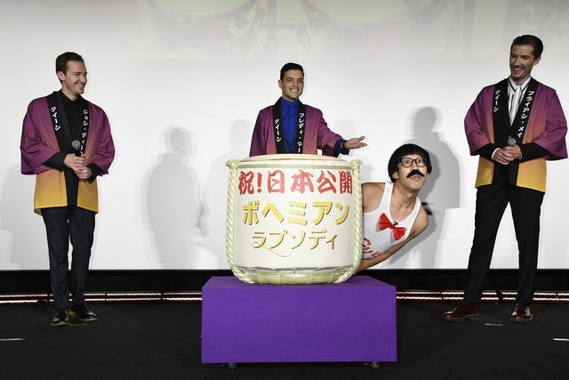画像2: 「ボヘミアン・ラプソディ」キャスト来日! 紫カーペットで華麗なるジャパンプレミア開催