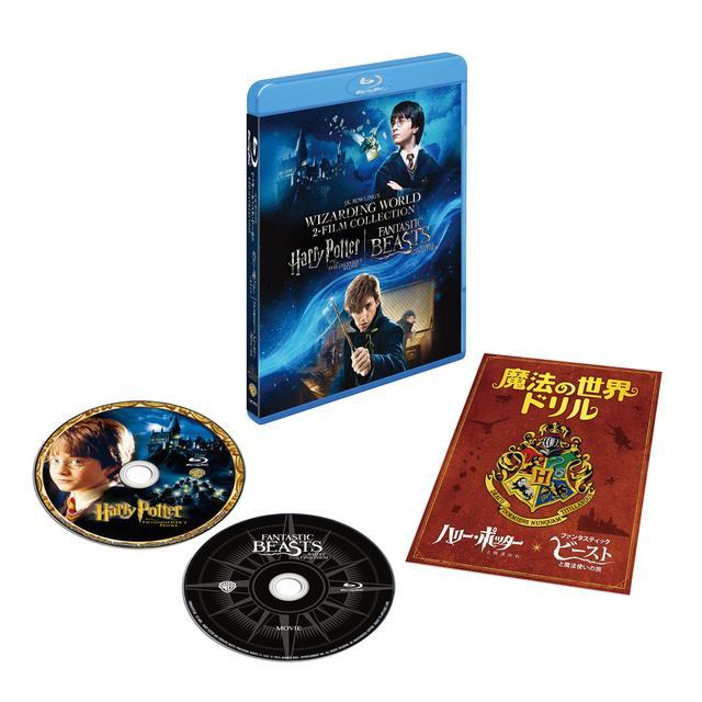 画像: 「ハリー・ポッターと賢者の石&ファンタスティック・ビーストと魔法使いの旅魔法の世界入学セット」 ブルーレイ(2枚組)は¥3,490+税、DVD(2枚組)は¥2,490+税。