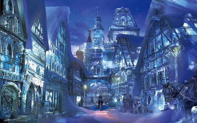 画像: 雪の国のコンセプトアート