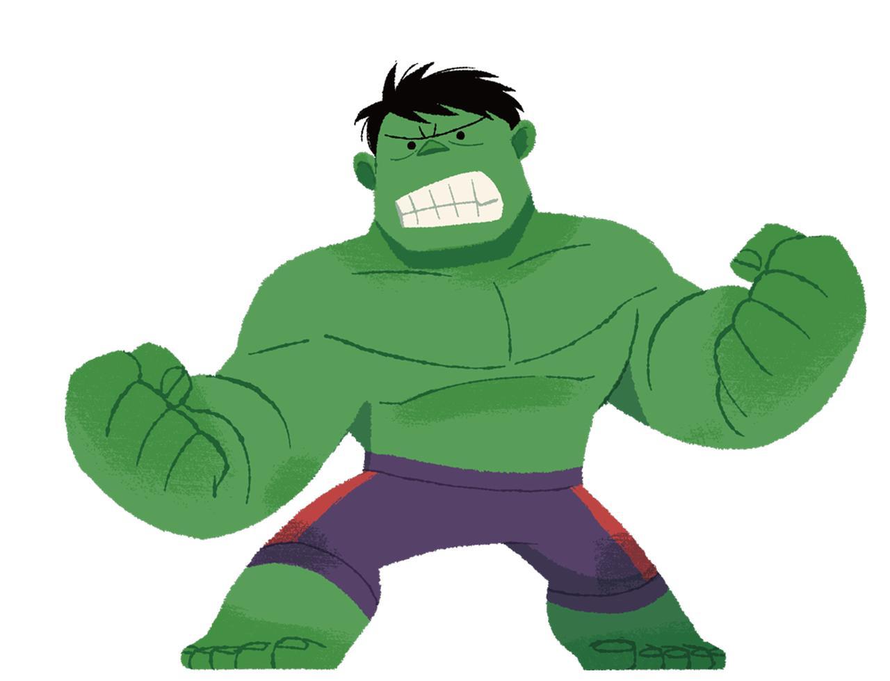 画像: 巨大なハルクは怒りの化身だけど、点目にすることでかわいらしさアップ。強かわいいって最強じゃない?