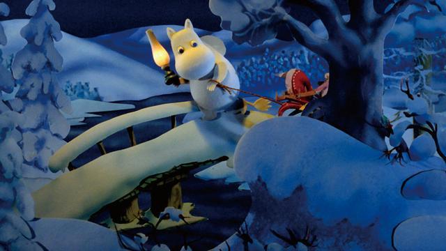 画像: 冬眠からひとり目覚めてしまったムーミンが経験する冬の冒険