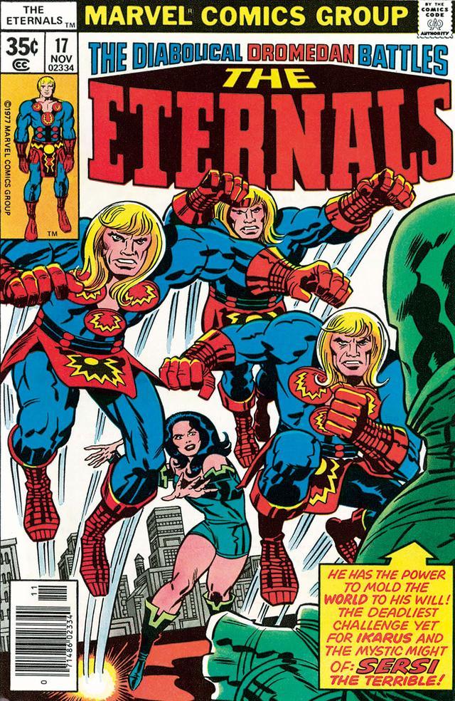 画像: こちらがコミック『ジ・エターナルズ』の表紙