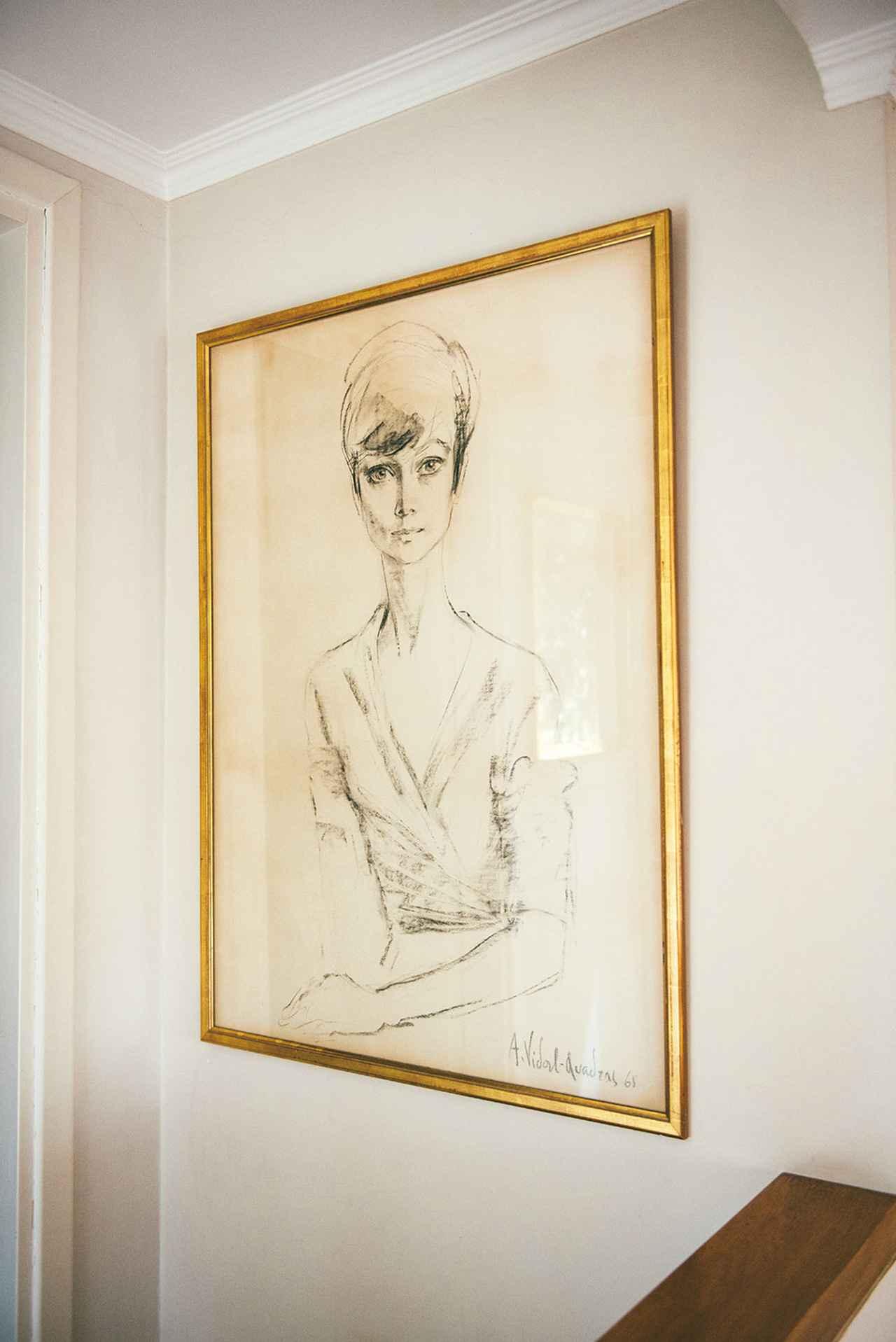 画像: 飾られていた肖像画