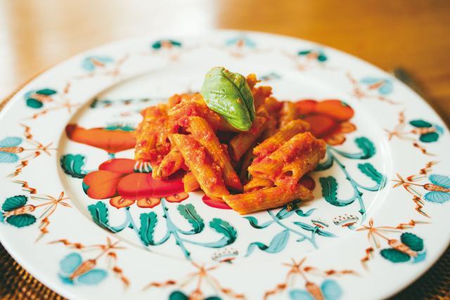 画像: ルカが自ら作ってくれたスパゲティ・アル・ポモドーロ