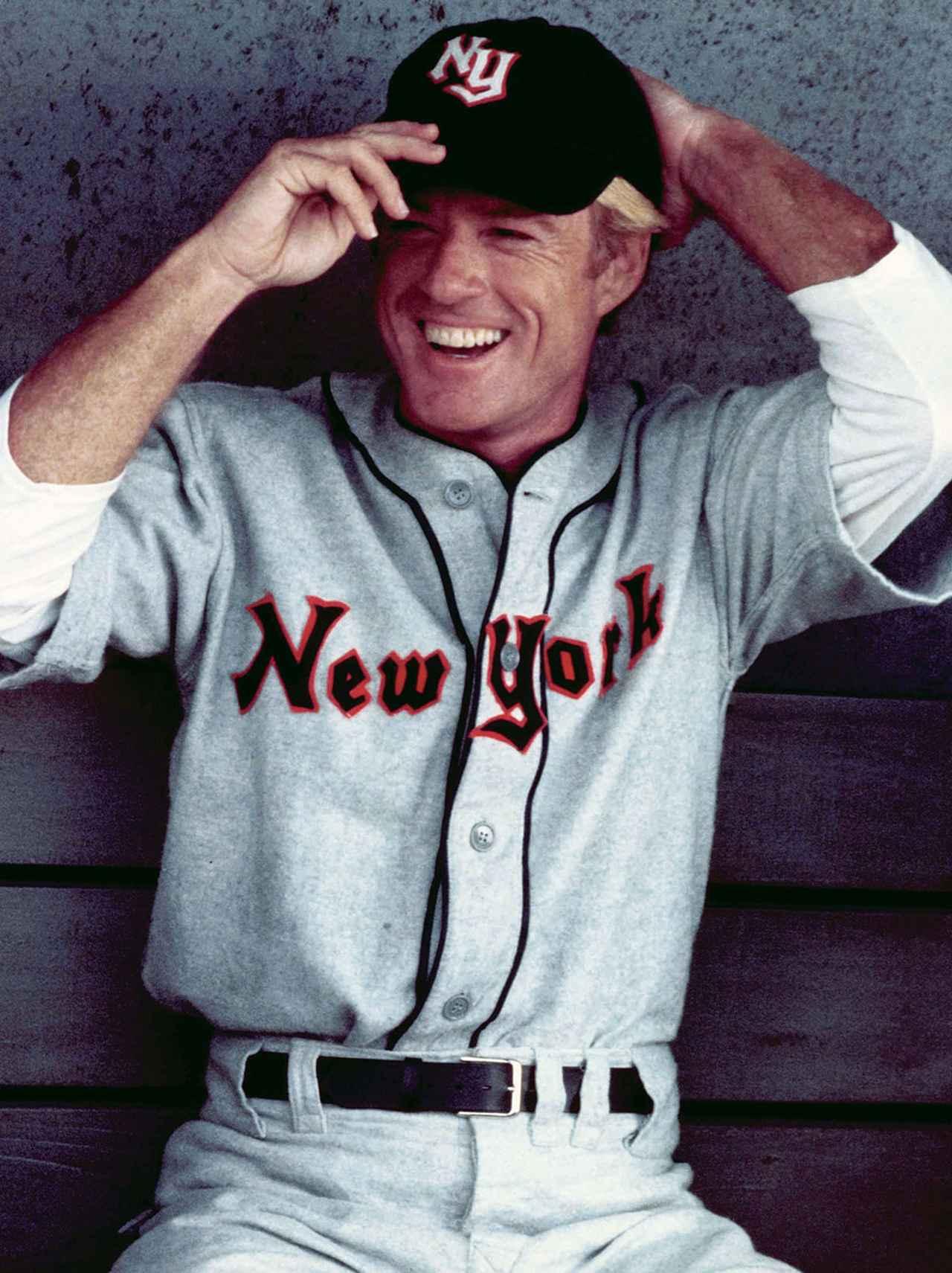 画像: 天才的な野球選手に扮した「ナチュラル」