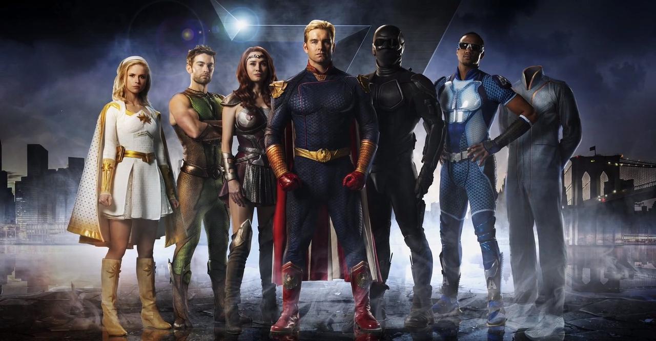 """画像: 「ザ・ボーイズ」の""""セブン""""こと、ヴォート社に所属するスーパーヒーローの人気者トップ7人はこの面々。みなどこかのヒーローに似てる"""