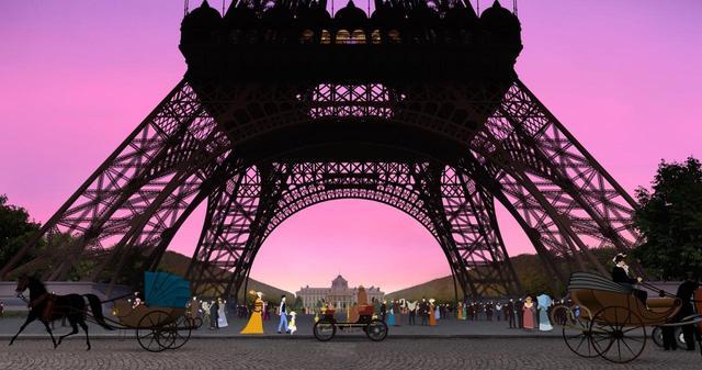 画像: パリの実写画像をアニメに組み込ませる試み