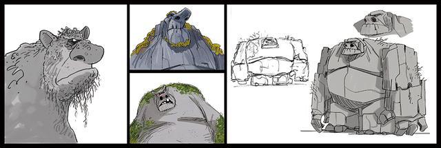 画像: 魔法の森の精霊たちのデザイン画