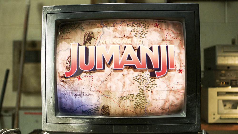 画像: ジュマンジのオープニング画面。フツーのゲームに見えるけど…