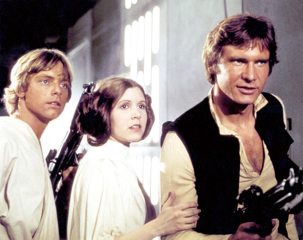 画像: 左から:ルーク、レイア、ハン