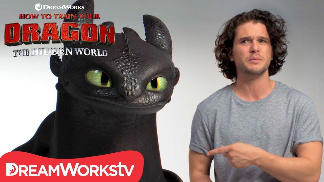 画像: HOW TO TRAIN YOUR DRAGON: THE HIDDEN WORLD | Kit Harington Auditions with Toothless youtu.be