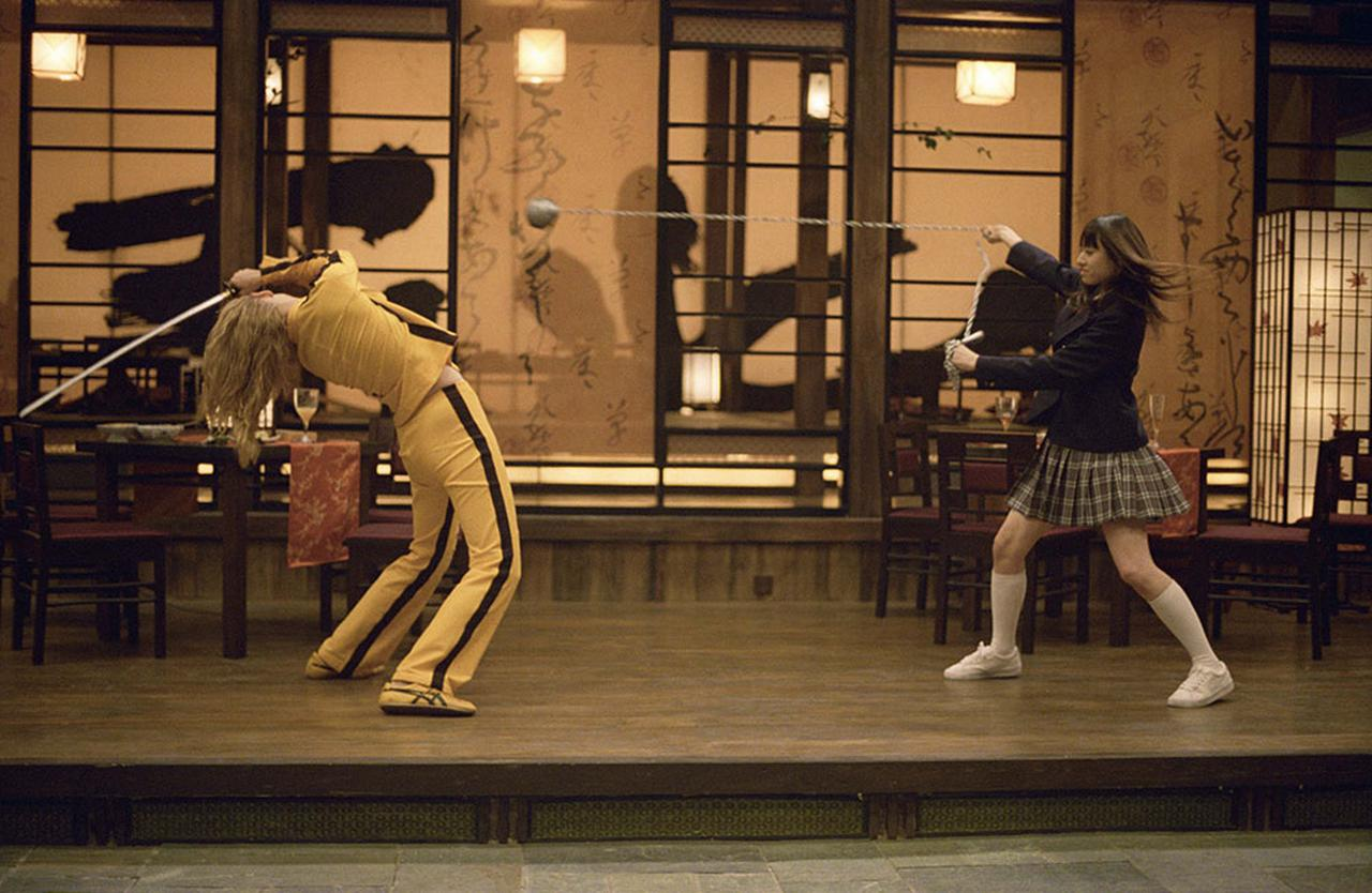 """画像: 「キル・ビル」で栗山千明が演じた女子高生の名前はなんと""""GOGO夕張""""!"""