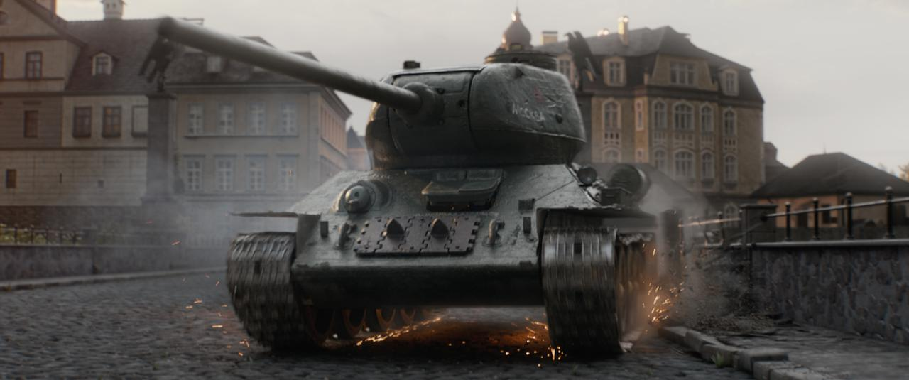 """画像: """"ソ連の最強戦車""""T−34"""
