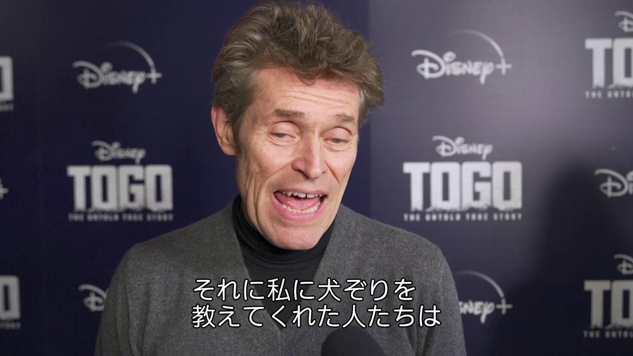 画像: トーゴー/主役インタビュー:ウィレム・デフォー|Disney+(ディズニープラス) youtu.be