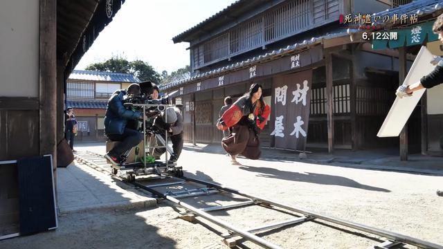 画像: 京都の映画村での撮影の様子