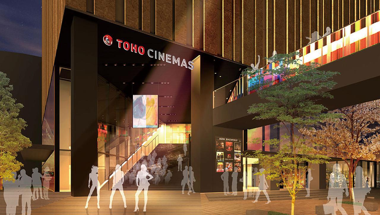 画像: TOHOシネマズ池袋外観。ハレザタワーの2~6階に10スクリーン、約1700席でオープン。さらに劇場への玄関口となるシネマプラザは階段状の半屋外劇場空間。イベントなどが開催できる。