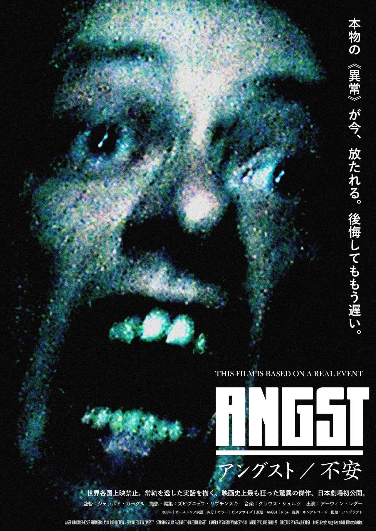 画像: 話題の異常映画『アングスト/不安』に石野卓球らの推奨コメント到着