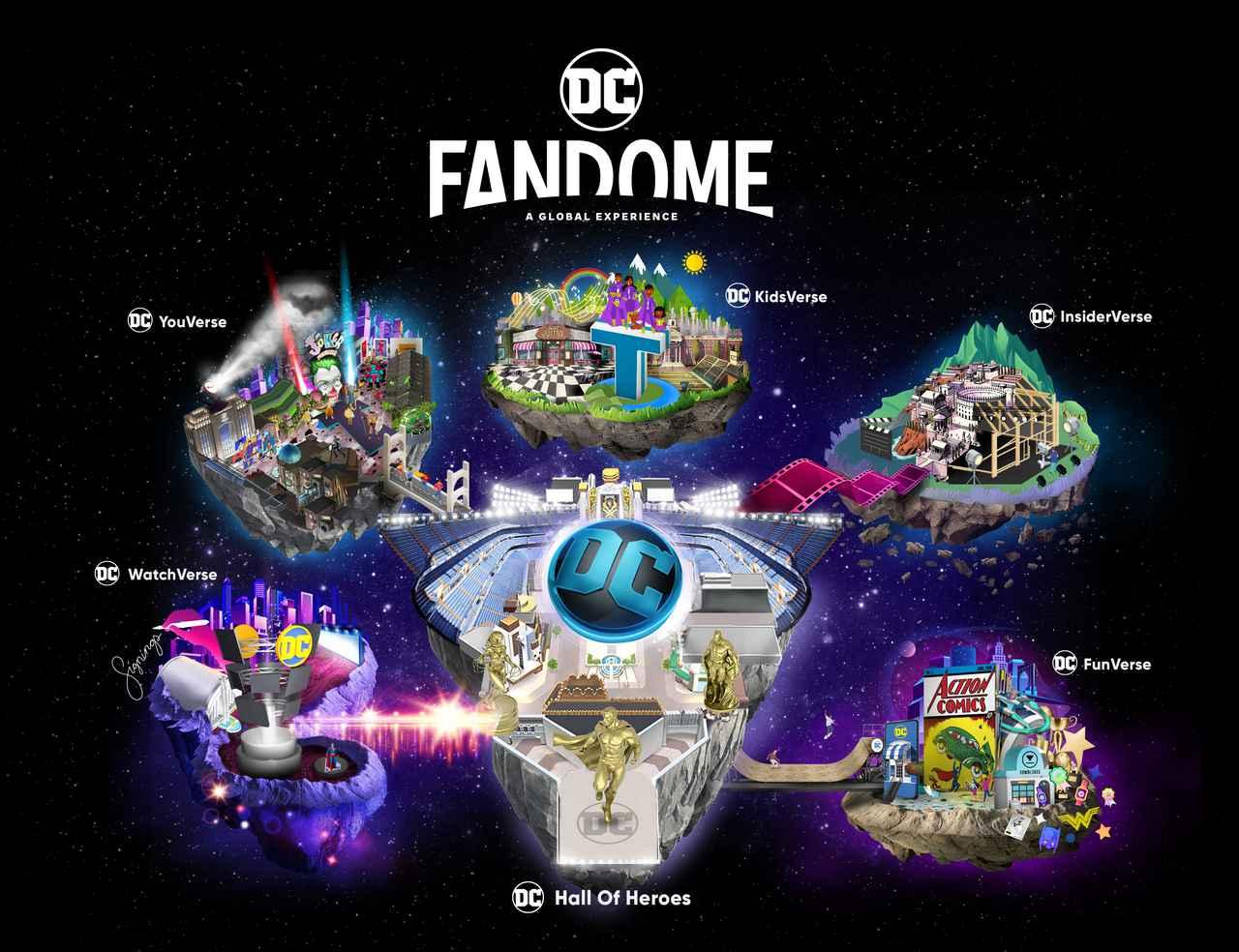 """画像: 世界初!""""DC 史上最大のバーチャルイベント""""DC ファンドーム"""