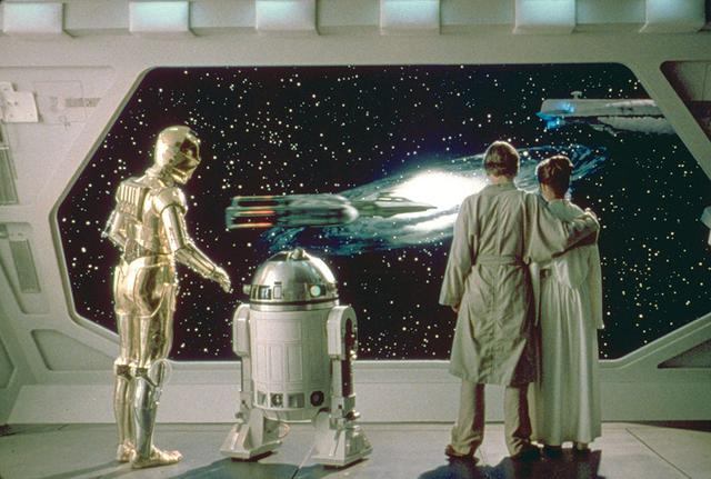 画像: ファルコン号を見送るルーク&レイア/「スター・ウォーズ エピソード5/帝国の逆襲」