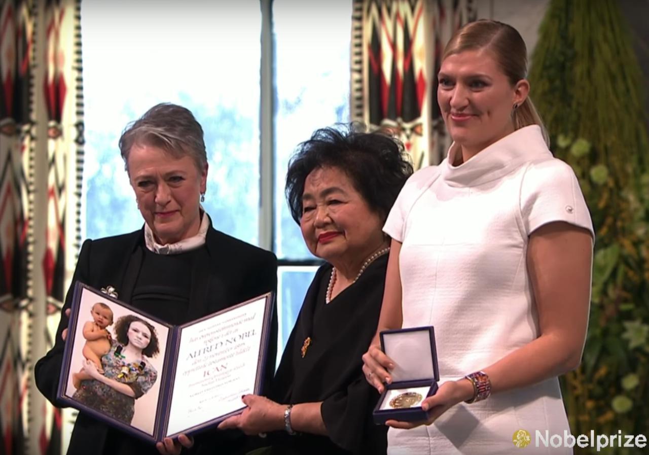 画像1: クライマックスはノーベル平和賞授賞式での力強いスピーチ