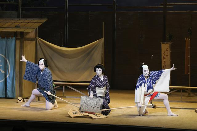 画像: 写真左から:尾上松也、中村七之助、中村勘九郎