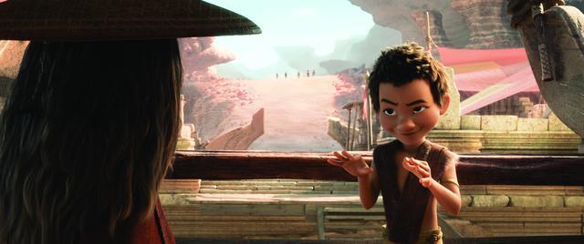 画像: アイザックが演じたブーン(右)