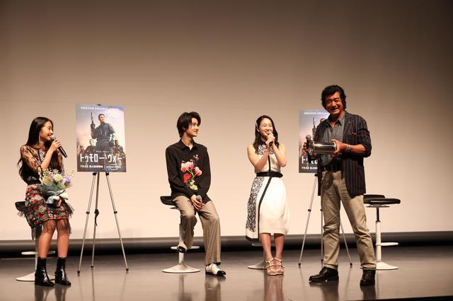 画像2: (左から)天翔天音、藤岡真威人、天翔愛、藤岡弘、