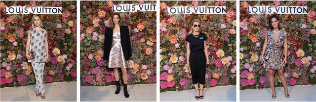 画像: (C)LOUIS VUITTON (左から)モデルのレナ·シモーヌ、 デザイナーのアミナ·モアディ、 映画プロデューサーのメリタ·トスカン·デュ·プランティエ、 デザイナーのクリスチャン·ルブタン