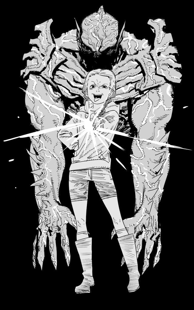 画像: 圧倒的迫力のサイコ・ゴアマンと、勝ち誇った表情の極悪少女ミミ