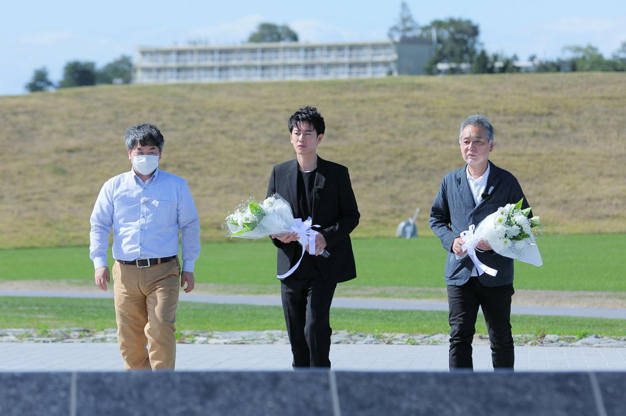 画像: 映画のロケ地ともなった石巻南浜津波復興祈念公園を訪問