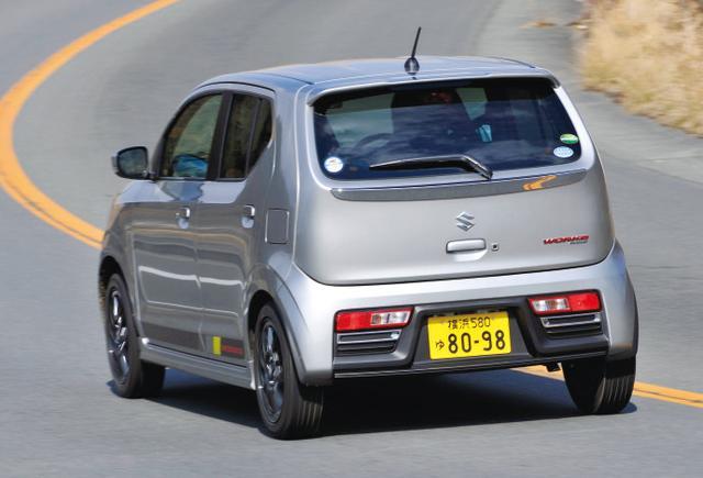 画像: 取材車はポテンザRE050A 165/55R15を装着していた。ホイールのリム幅は5Jとなる(ターボRSは4.5J)。