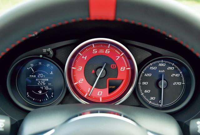 画像: スピードメーターは270km/hまで刻まれているが、190km/h付近で速度リミッターが作動するそうだ。