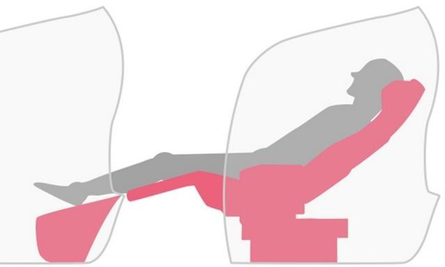 画像: ▲リクライニングは最大156度。後ろの人を気にせずに倒せる。