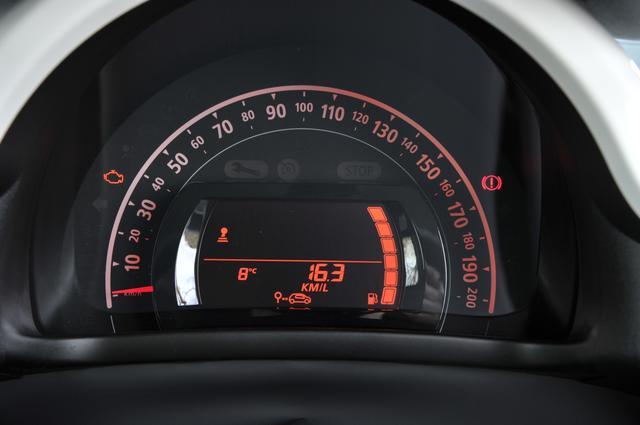 画像: ▲200km/hの速度計の中に情報パネルを持つ1眼タイプ。回転計はないがシフトアップのタイミングを教えてくれる。